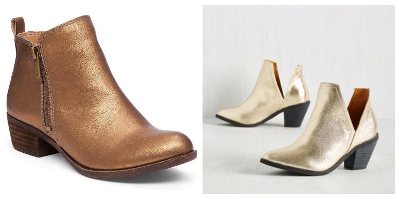 gold-booties
